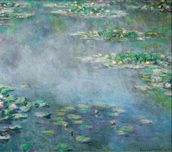 High quality Oil painting Canvas Reproductions Water Lilies (1906)1142  By Claude Monet hand painted