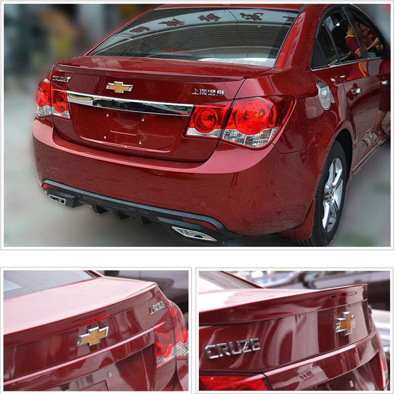 Car Styling ABS Plastic Unpainted Primer Color Tail Trunk Wing Rear Spoiler For <font><b>Chevrolet</b></font> <font><b>Cruze</b></font> <font><b>2009</b></font> 2010 2011 2012 2013 <font><b>2014</b></font> image