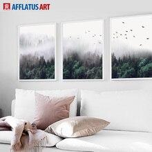 Kunst aan de muur canvas schilderij wolk bos landschap schilderij nordic-stijl posters en prints muur foto's voor de woonkamer decor