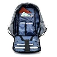 17 inch usb tsa anti theft business waterproof Men laptop backpack big bag School backpack bags Nylon Waterproof travel bags