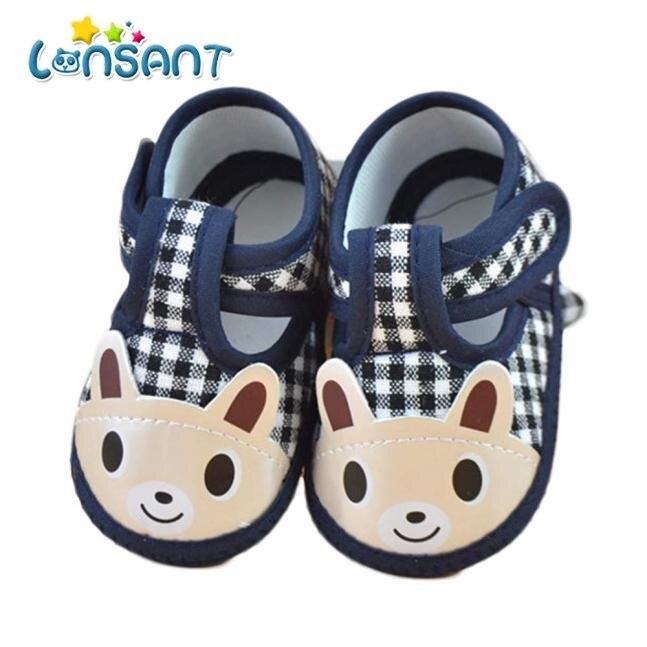 LONSANT 2018 Newborn Girl Boy Soft Sole Crib Toddler Shoes Canvas Sneaker E1120