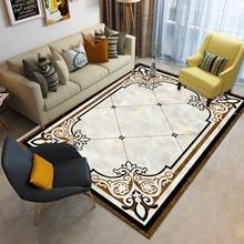 European classical living room mat Nordic custom made carpet Baby crawling velvet printed floor non-slip bedroom rug