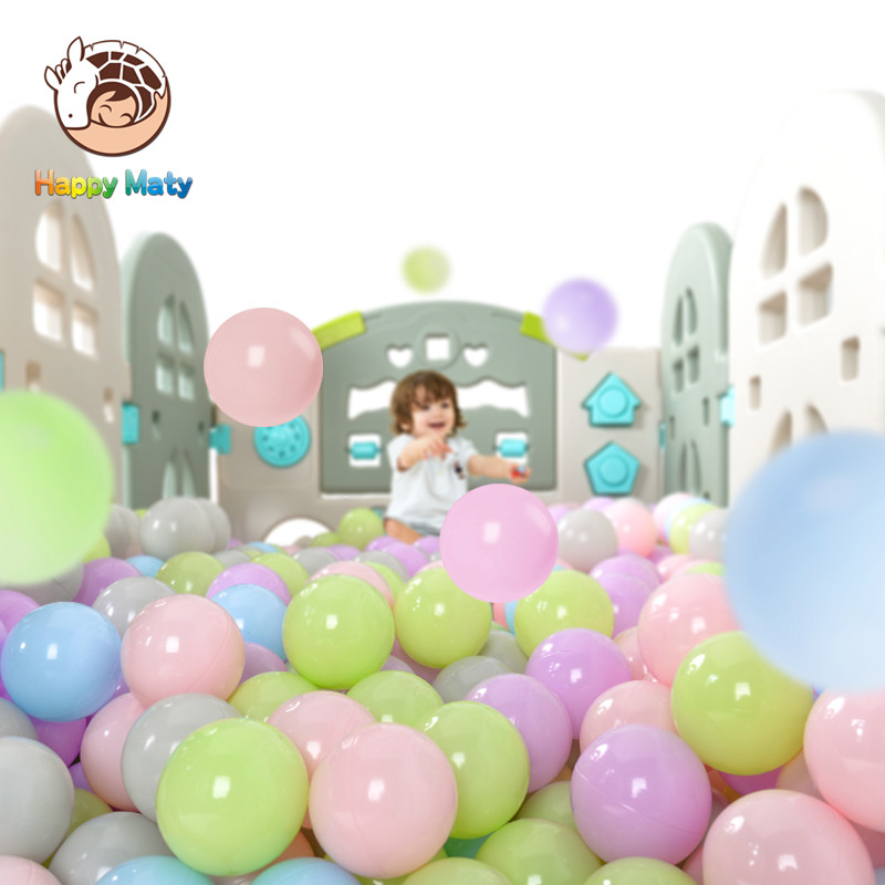 50 Pcs 7cm Eco-Friendly Colorful Ball Soft Plastic Ocean Ball Funny Baby Kid Girl Boy Swim Pit Toy Water Pool Ocean Wave Ball