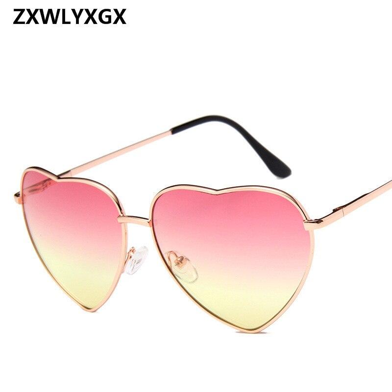 Pfirsich Herz Sonnenbrille Frauen Gradienten Herzförmige Sonnenbrille Dekorative Birthday Party Brille Oculos De Sol Bekleidung Zubehör