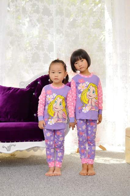 f07159aaa Children Pajamas Cotton Nightwear Hello Kitty Princess Cartoon Loungewear  Kids Girls Homewear Spring Autumn Sleepwear Free Ship-in Pajama Sets from  Mother ...