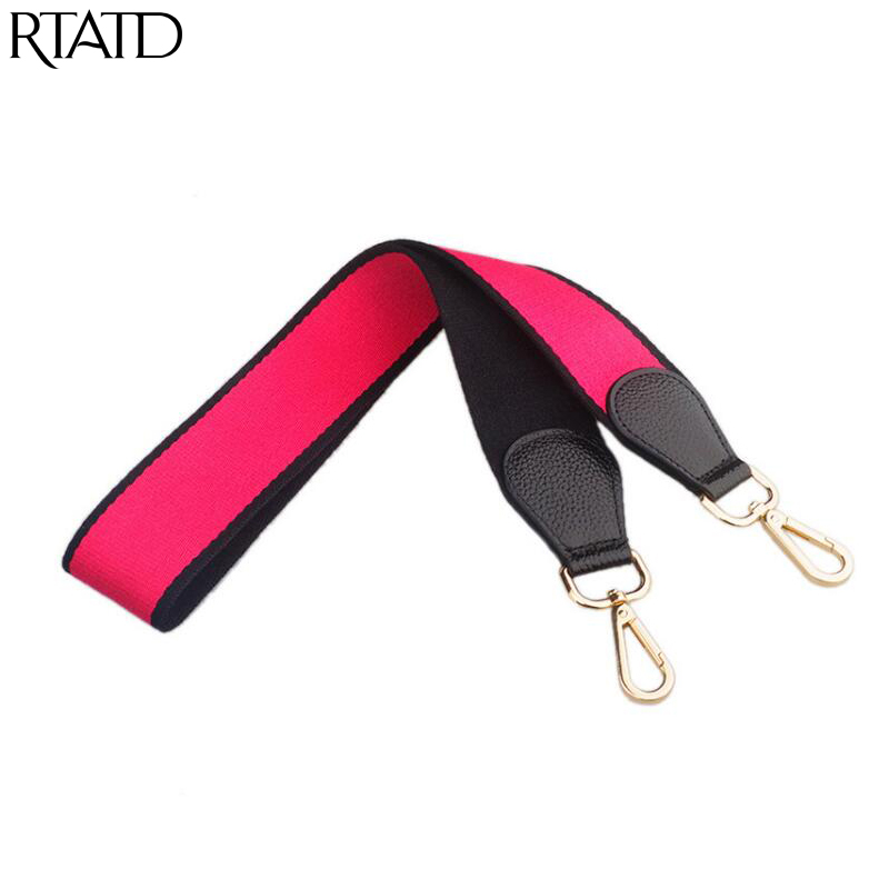 RTATD Canvas 105cm Women Handbags Strap Patchwork Lady Shoulder Belts National Gold Buckle Handle For Bag Accessories B119