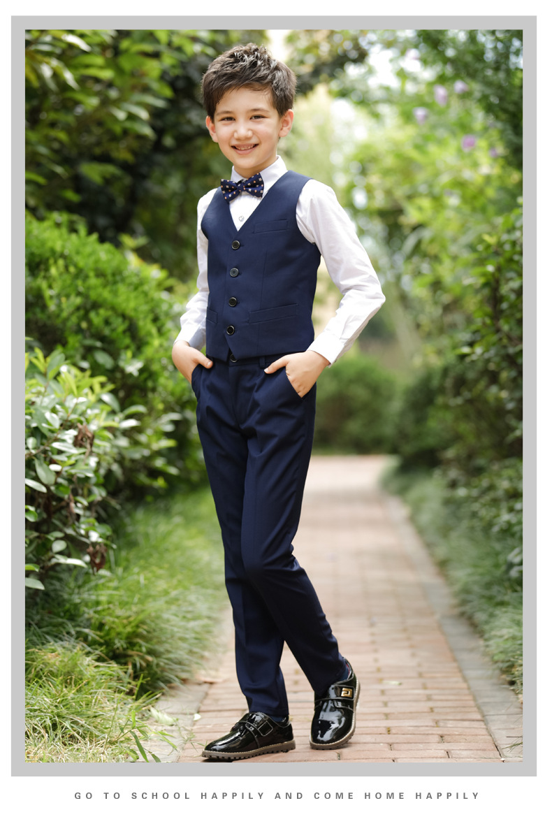 2017 Promotion Big Boys Vest Clothing Set Children Leisure Clothes Kids Wedding Prom Suits Christmas Costumes For Tie Shirt (14)