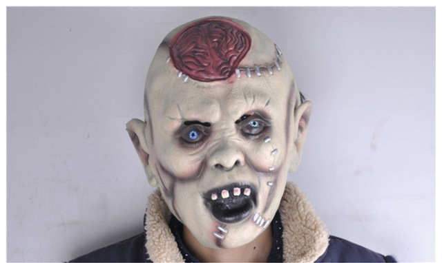 cool crazy killer party mask halloween face fool party masks head latex creepy joker mask scared - Cool Masks For Halloween