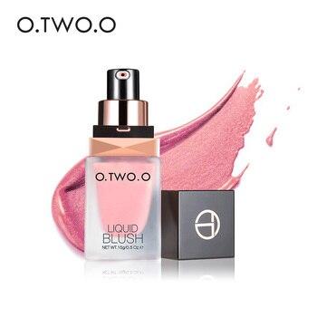 O. 2. O แต่งหน้า Face Blusher เพรียวบาง Silky Paleta De Blush สีมีอายุการใช้งานยาว 4 สี Natural Cheek Blush Face Contour make Up