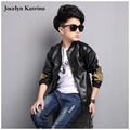 High Quality Jacket Boys PU Leather Jacket 2017 Spring Autumn New Children 5-16Y Clothing Kids Fashion Coat Outerwear