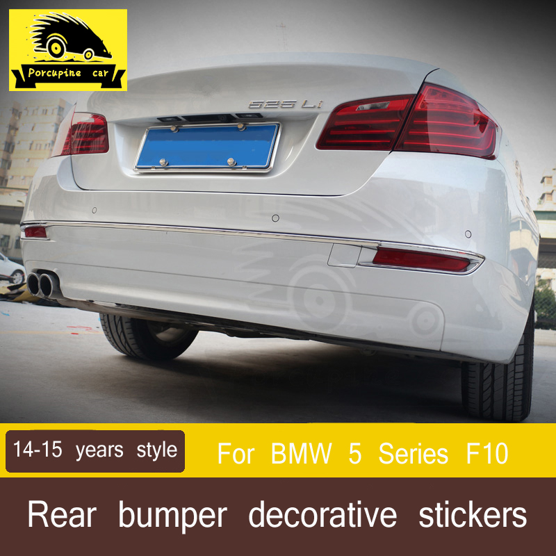 Garniture de coffre de voiture arrière pare-chocs arrière autocollants de couverture d'antibrouillard pour BMW série 5 F10