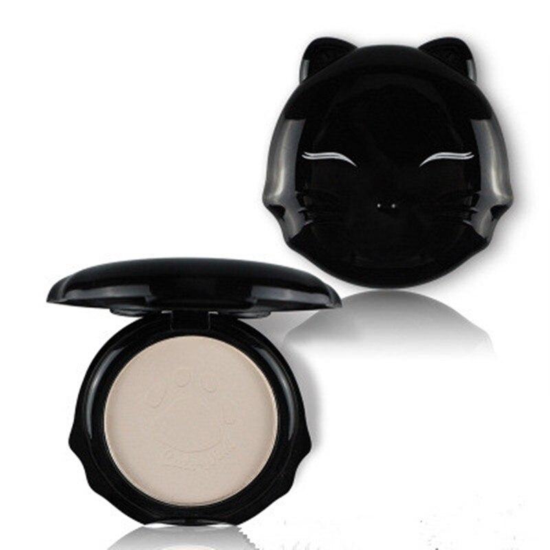 Katzen Wink Gedrückt Pulver Mit Puff Glatt Gesicht Make-Up Foundation Wasserdicht Lose Pulver Haut Einstellung Pulver