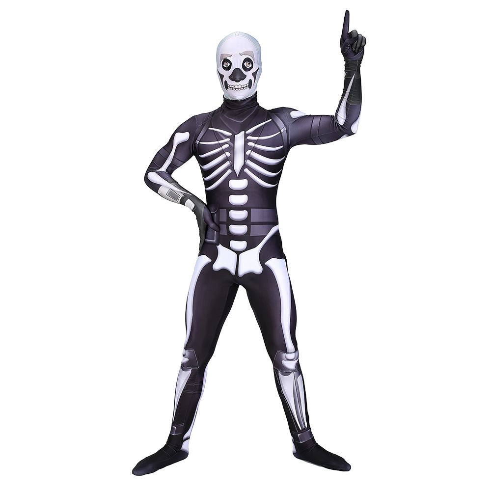 Kid Adults Soldier Skull Trooper Skin Boys Character Clown Cosplay Clothes Halloween Costumes Cute Mask Party Funny Clothing