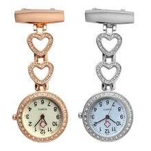 Новые модные женские карманные часы с клипсой на сердце/пятиконечная звезда кулон висят кварцевые часы для медицинского доктора медсестры часы VK-I