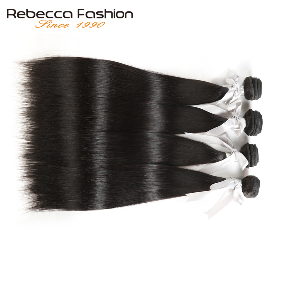 Rebecca Malaysian Straight Hair 4 Bundles Deal 10-26 tums icke remy - Barbershop - Foto 4