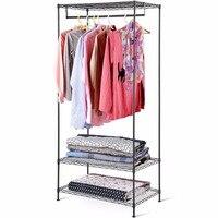COSTWAY Clothes Hanger Coat Rack Garment Racks Floor Hanger Storage Wardrobe Clothing Drying Racks For Home Furniture HW58923