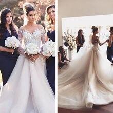 kejiadian satin ball gown long sleeve Wedding Dress wedding