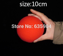 Super sponge ball (10cm) 3 color for choose,red/blue/yellow,5 pcs/lot,stage magic trciks,mentalism,close up magic props,stage(China)