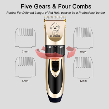 Professional Clipper For Dogs Trimmer USB Charging Dog Grooming Clippers For Dogs Puppy Cats Hair Haircut Machine Pet Products 4