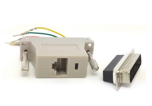 Image 2 - 10 pçs/lote DB25 macho para RJ45 Feminino Adapter Modular