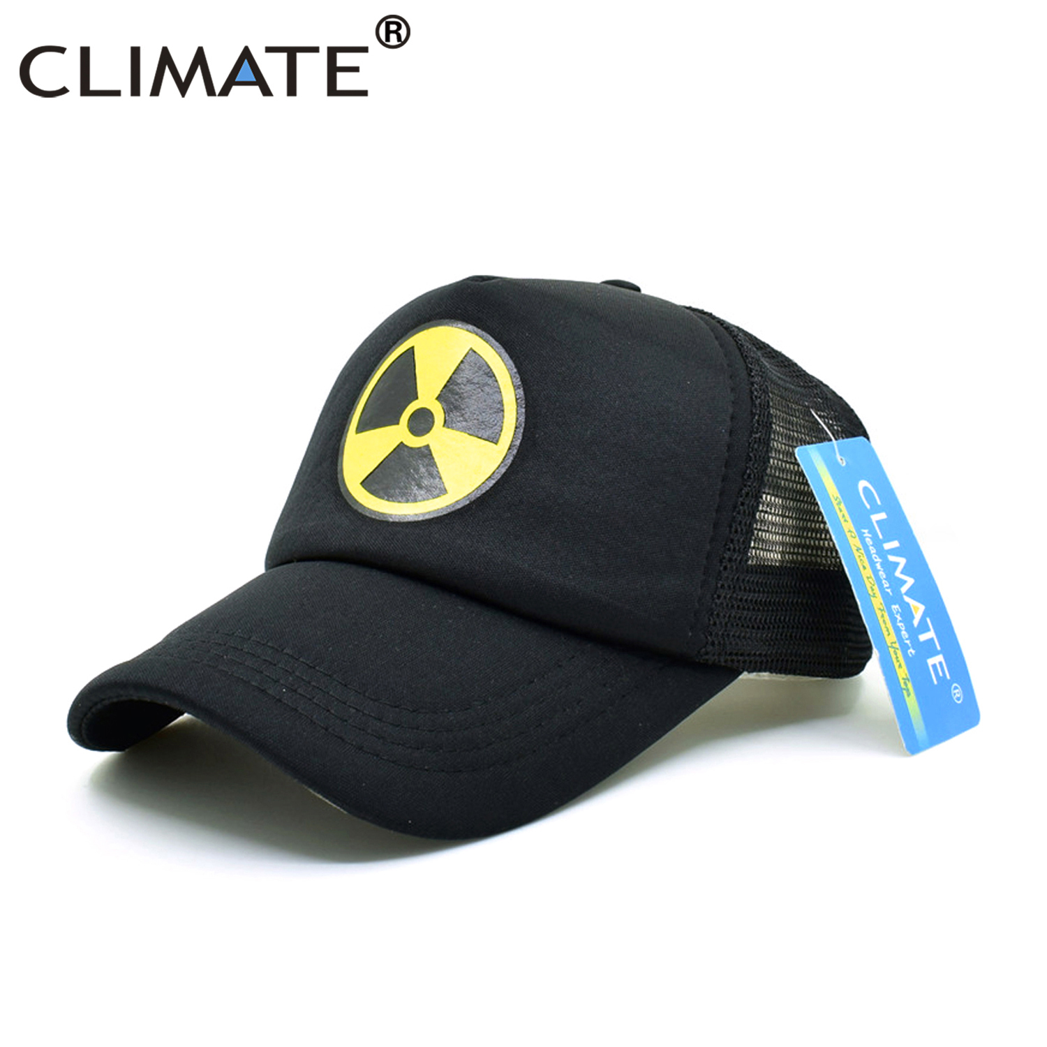 CLIMATE Fallout 4 Shelter Trucker Caps Women Men Black Baseball Cap Summer  Hot Game Fans Cool Mesh Cap X RAY Summer Hat Men Gift-in Baseball Caps from  ... dad04223fe76