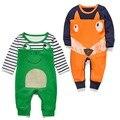 Весна осень зима новорожденный мальчик одежды ребенка лягушка комбинезон для девочки с длинным рукавом пижамы комбинезон малыша комбинезоны унисекс