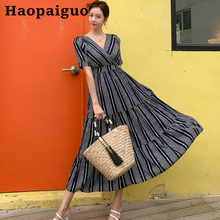 Big Swing Summer Vintage Dress Women Short Sleeve Cake Style Loose Casual Midi Long Clothes for Ukraine