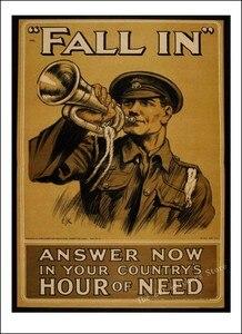 Image 4 - World War vintage Retro Kraft  Poster. World War 1, World War 2 propaganda poster retro poster style decorative/901