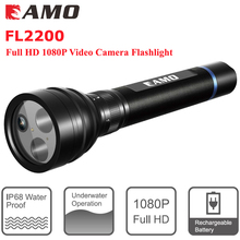 new FL2200 1080P FHD Underwater Video MINI Camera Flashlight Sport Camera Camcorder Weatherproof LED Free Shipping