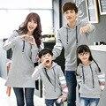 2015 de moda de la familia sudaderas con capucha Tops ropa madre e hija ropa padre e hijo de la familia ropa a juego trajes AL05