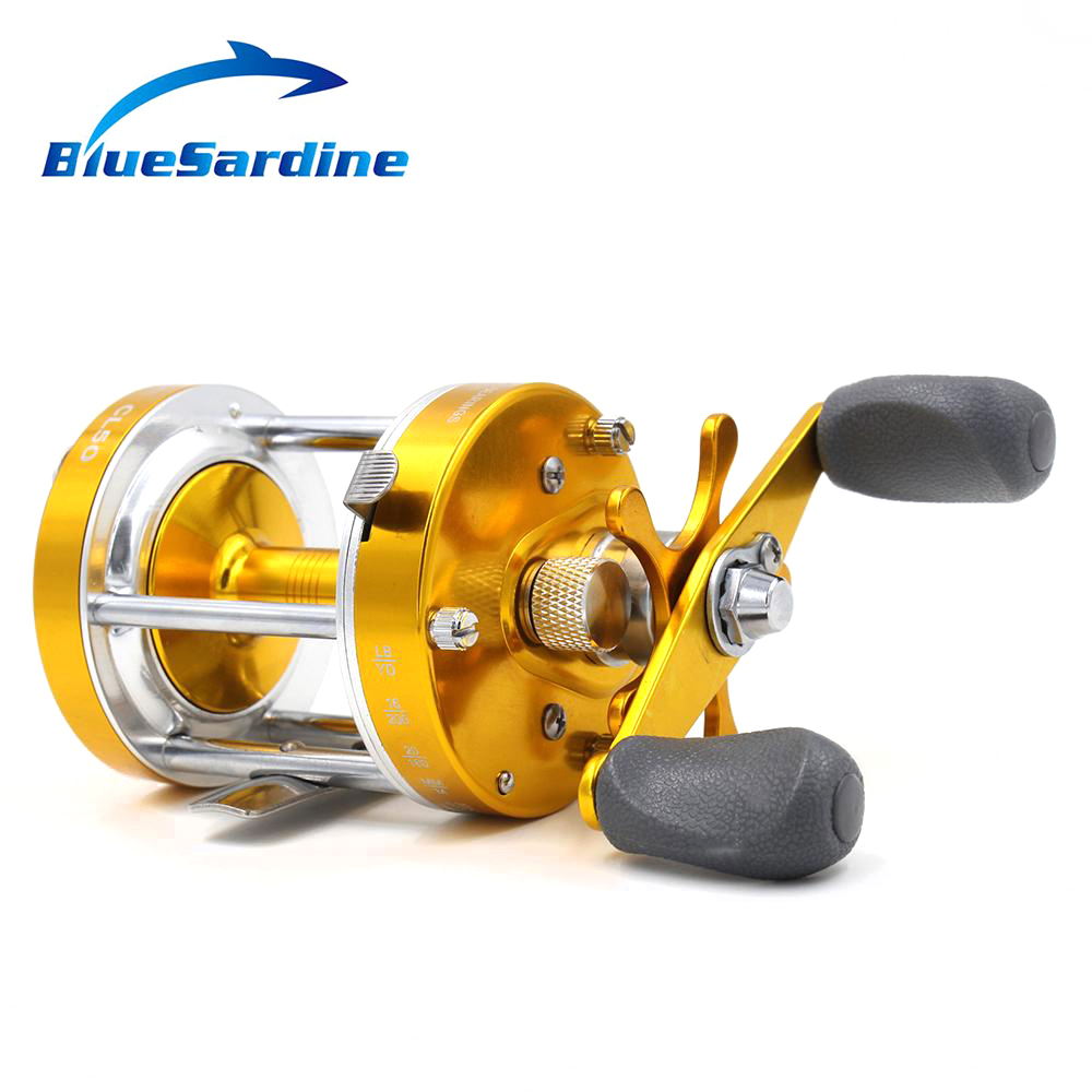 Drum Saltwater Reel Boat Trolling Fishing Reel Baitcasting 2+1 BB Sea Wheel Bait Casting Fishing Tackle metal round jigging reel 6 1 bearing saltwater trolling drum reels right hand fishing sea coil baitcasting reel