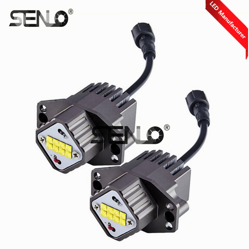 цена на 2018 New e90 led angel eye light bulb lamp halo ring 80w for bm w e90 e91 325i 316i 318i 320i 330i