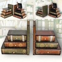 Европейский современный Ретро моделированное Исследование Книга фальшивого книги реквизит муляж иллюстрированных книг украшение для кни