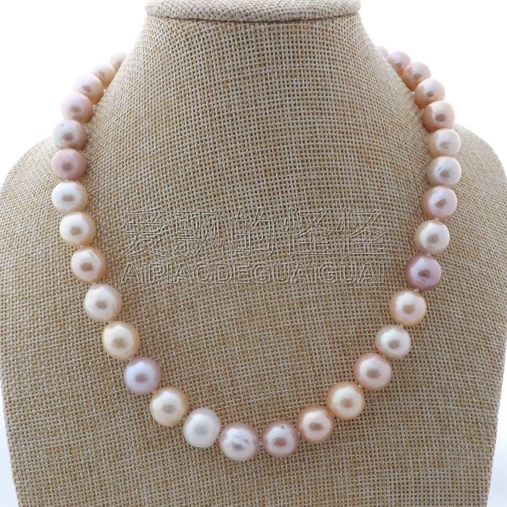 N122709 18 Multi Color Keshi Pearl Necklace