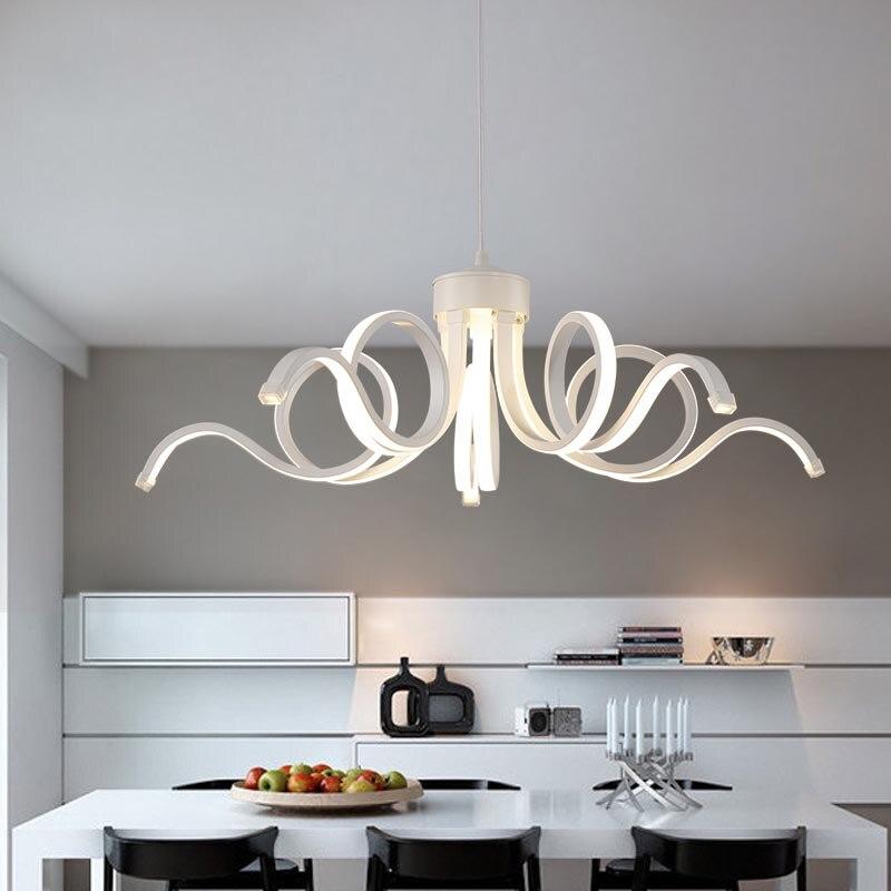 Modern Led Dimmable Lustre aluminum colgantes lamp for Bedroom Living Room
