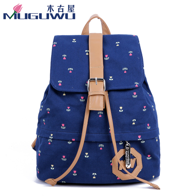 2014 women's bag fashion canvas backpack preppy style student school bag canvas shoulderbag mujer bolsos mochilas