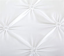 White Duvet Cover Set Pinch Pleat 2/3pcs Twin/Queen/King Size Bedclothes Bedding Sets (no filling no sheet )