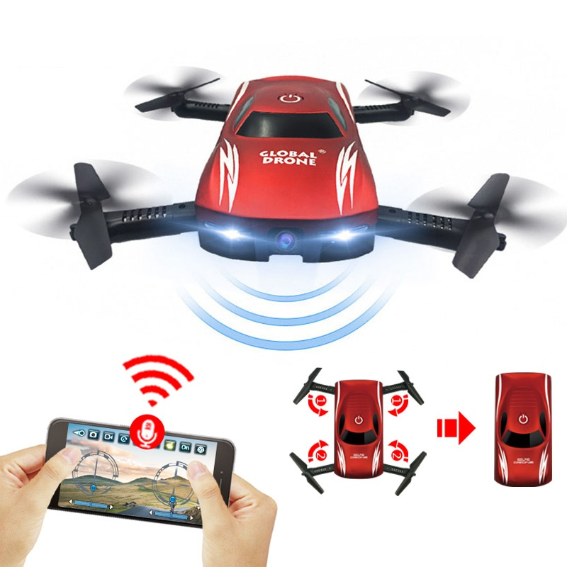 Global Drone GW186 Profissional Wifi FPV Mini Foldable Selfie Drone With Camera HD Remote Controller Helicopter VS JY018 E52