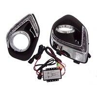 2pcs New Car Accessories LED DRL Daytime Running Lights Daylight Fog Light LED Fog Lamp For