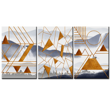 Wholesale Modern abstract series Paintings Wall Art Home Decoration framed Canvas Painting For Living Room