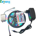 RGB/White/Warm white/Bule/Red/Green/Yellow 5m SMD 3528 LED strip light diode tape 300leds non waterproof+DC 12V 2A power adapter