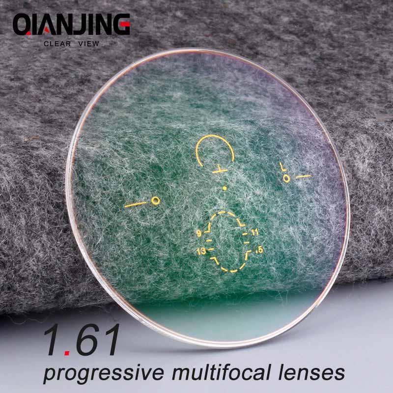 1,61 цифровая Бесплатная форма прогрессивная нет-Line Multi-Focal рецепт индивидуальные оптические линзы с антибликовым покрытием 2 шт.