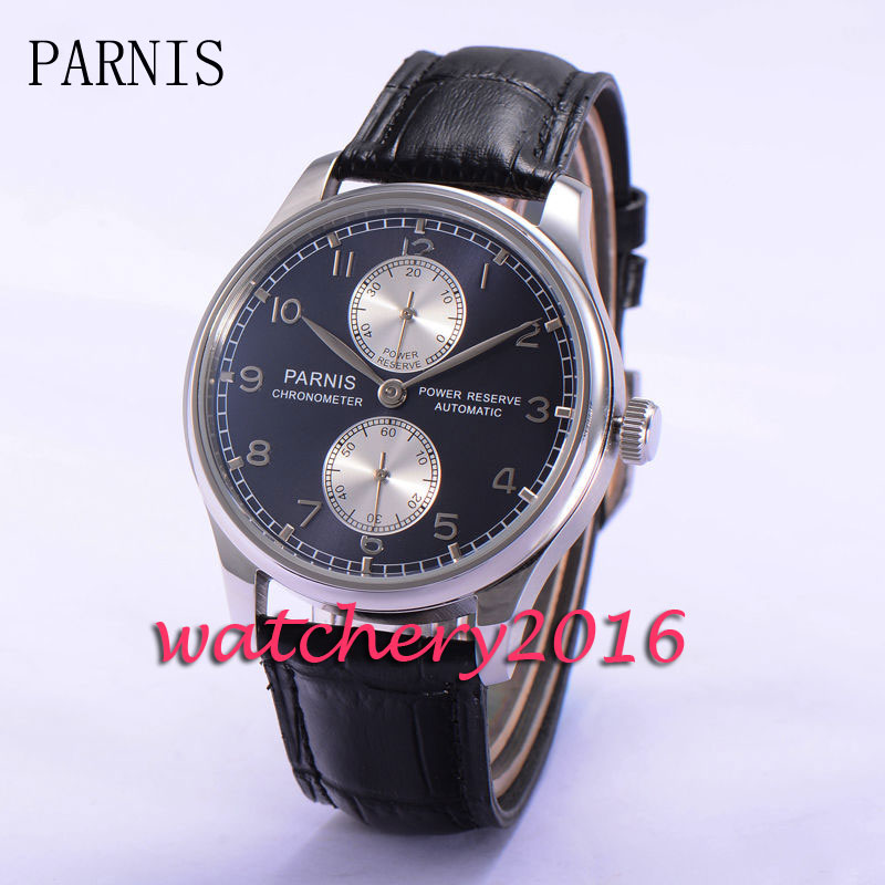 Фото 43mm Parnis Blue Dial stainless steel automatic mechanical movement watch Power Reserve Automatic Movement Men