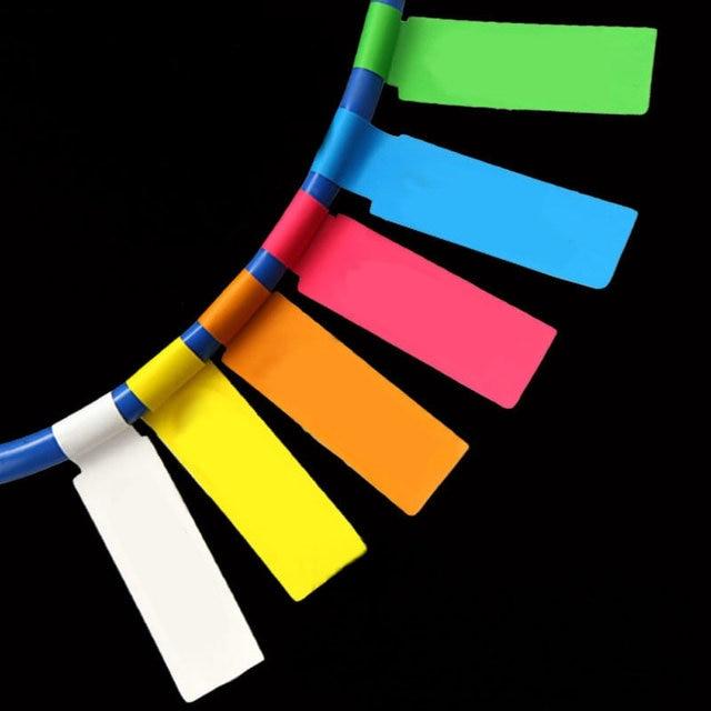 Network Cable Labels Sticker 84x26mm 900 Pieces 30 Sheets A4 P Shape