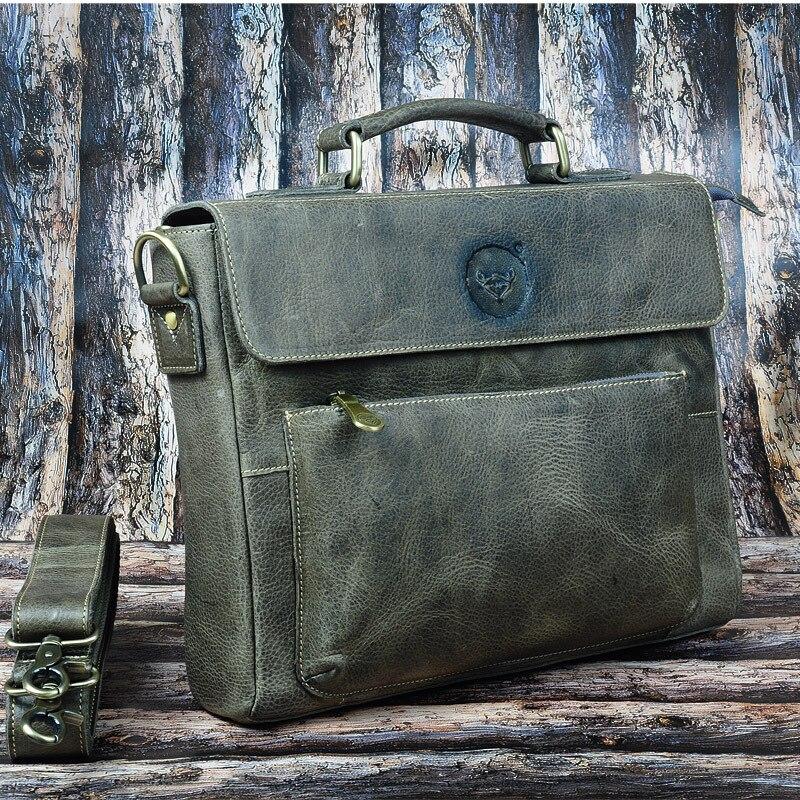 2013 натуральная кожа мужская сумка первый слой из воловьей кожи сумка на одно плечо через плечо винтажный повседневный тренд портфель 1234 - 3
