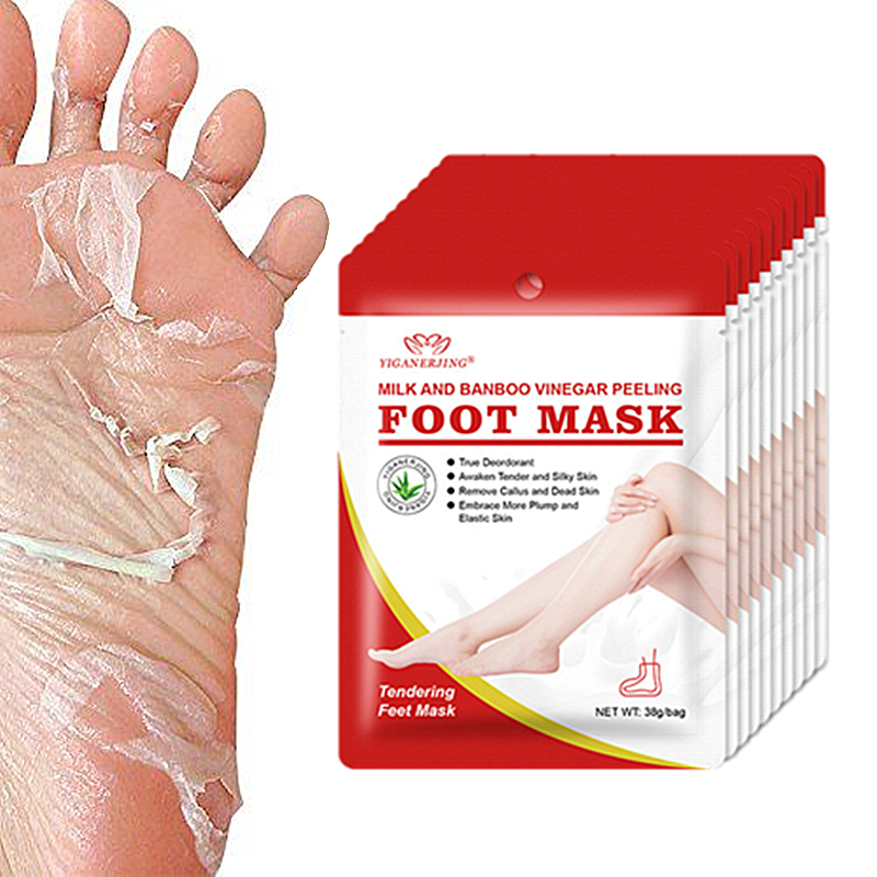 1Pcs=2Pair Peeling Foot Mask Exfoliating Socks For Pedicure Socks Baby Feet Masks Legs Cream For Heels Remove The Skin Drop Ship