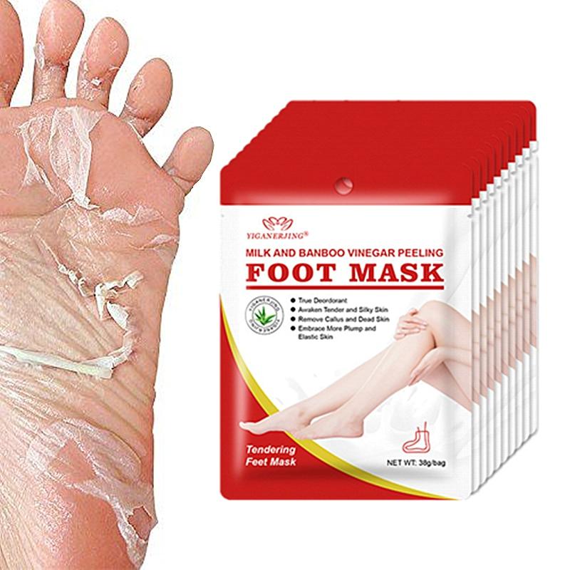 1Pcs=2Pair Peeling Foot Mask Exfoliating Socks For Pedicure Socks Baby Feet Masks Legs Cream For Heels Remove The Skin Drop Ship