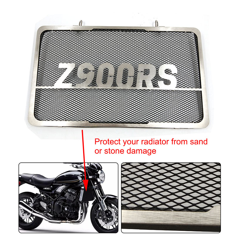 2018 New For KAWASAKI Z900RS Motorcycle Accessories Radiator Grille Guard Cover Protector Z900RS high quality motorcycle radiator grille guard screen cover protector black protective cover for kawasaki zx 10r 11 12 13 14