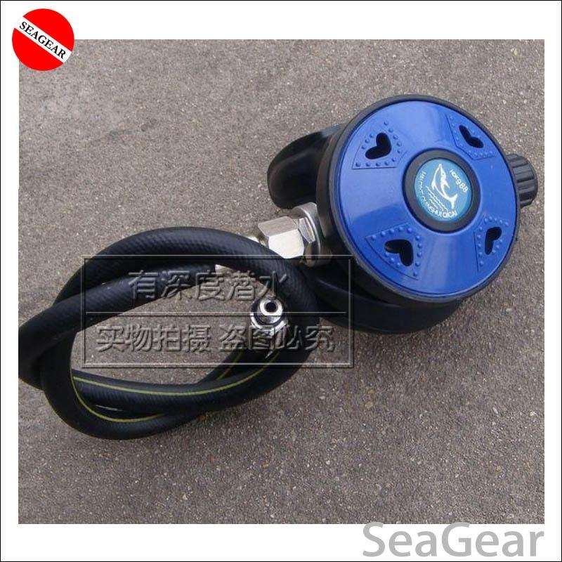 SCUBA diving regulator 2nd stage regulator adjustable breath regulater with mouthpiece and hose