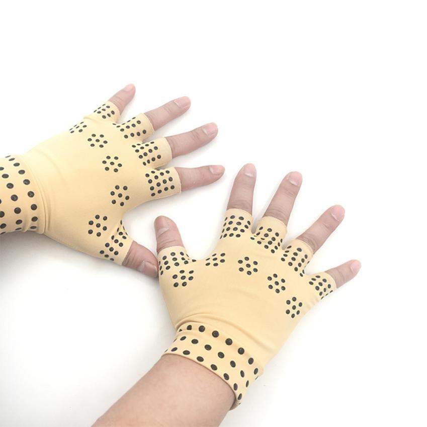 Fishsunday 1 Pair Magnetic Therapy Fingerless Gloves Arthritis Pain Relief Heal Joints Braces Supports Health Care Tool 0718 kožne rukavice bez prstiju